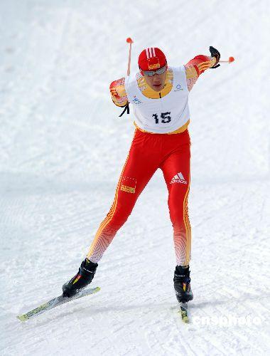 图文:男子越野滑雪短距离自由 中国无缘奖牌