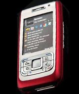 诺基亚红色款滑盖手机E65