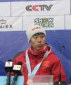 图文:亚冬会 越野滑雪传统5公里王春丽获得铜牌
