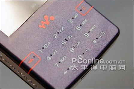 索尼爱立信W950+键盘