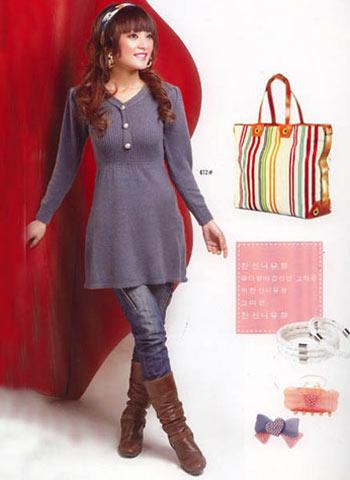 服装:时尚靓丽 修身针织衫(4款)