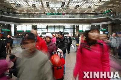 图文:北京西站春运忙