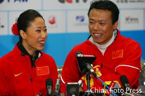 图文:赛后发布会 申雪赵宏博宣布将暂离国家队