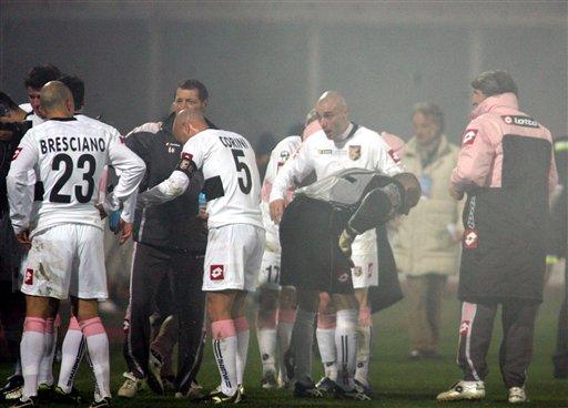 意甲-西西里德比球迷骚乱 卡坦尼亚1-2负巴勒莫