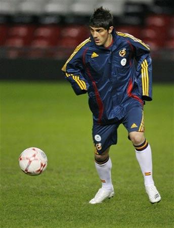 图文:友谊赛英格兰VS西班牙 西班牙队训练