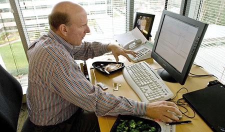 纽约时报:微软首席执行官鲍尔默的一天(图)