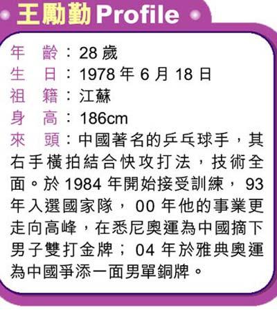 赵薇王励勤2000年已相识 混双姐弟恋受祝福(图)