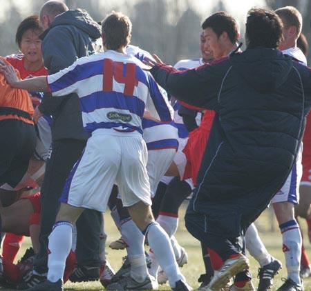 国奥连续打架形象受损 英甲对手拒绝与中国比赛