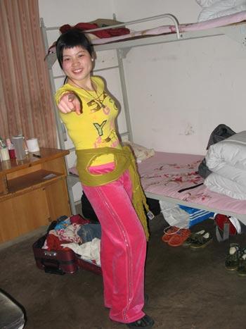 图文:奥运舵手南部赛区选拔 爱美的女孩刘健