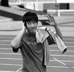 刘翔德国人气比肩舒马赫 直言面对奥运需要勇气