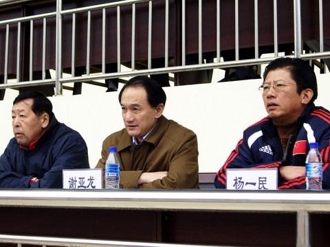 图文:热身赛中国1-0俄罗斯 足协领导现场督战