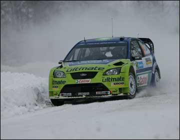 WRC瑞典站格隆霍姆稳居第1 索伯格意外遗憾退出