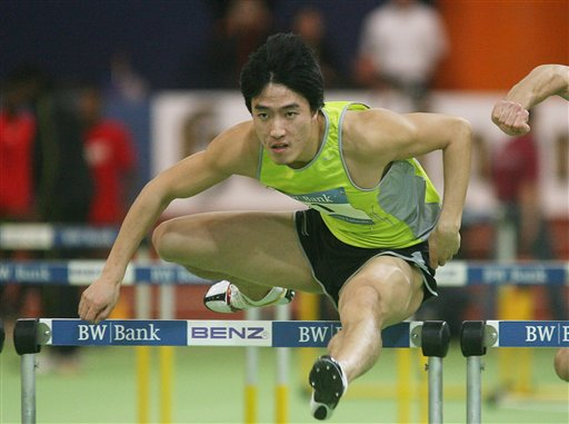 卡尔斯鲁厄赛:刘翔力挫罗伯斯 破亚洲纪录夺冠