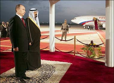 普京访问沙特 实现80年来首次俄罗斯元首访沙