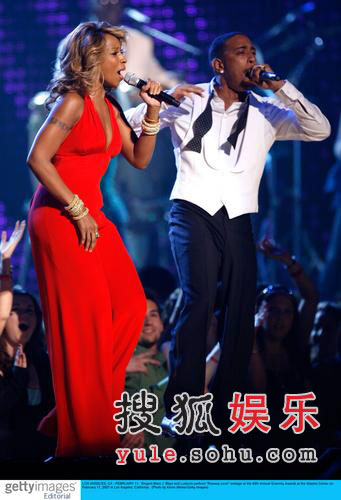 图:玛丽布莱姬与说唱歌手Ludacris合唱