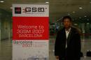 图文:搜狐编辑在3GSM大会现场