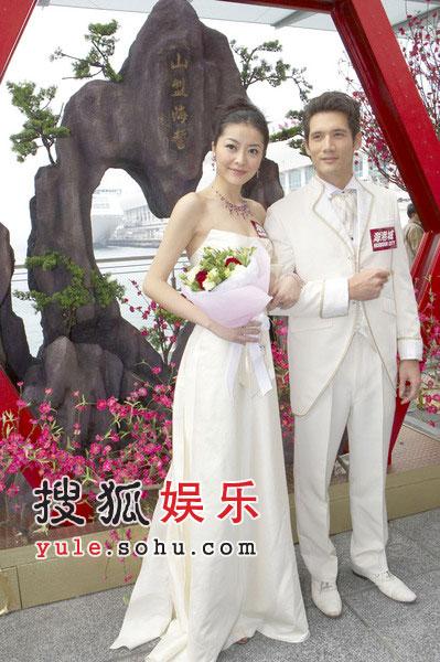 """组图:熊黛林昨""""出嫁"""" 与俊男举行中式婚礼"""