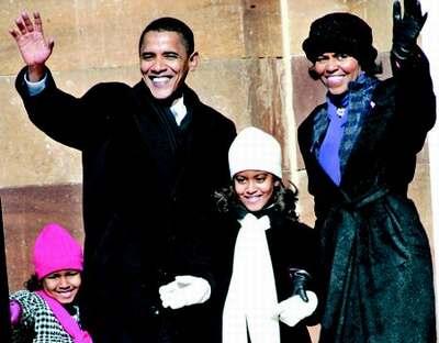 美国黑人总统候选人奥巴马背后女人引关注