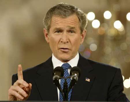 美国总统布什,资料图.