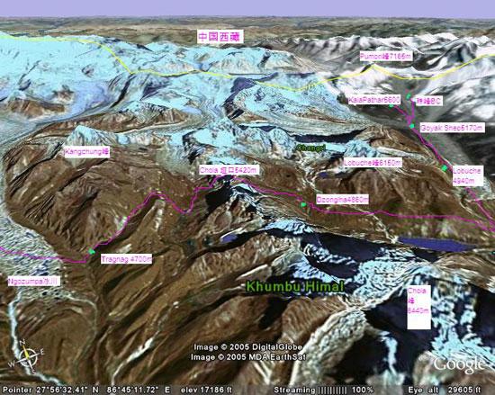 尼泊尔珠峰地区图(八)