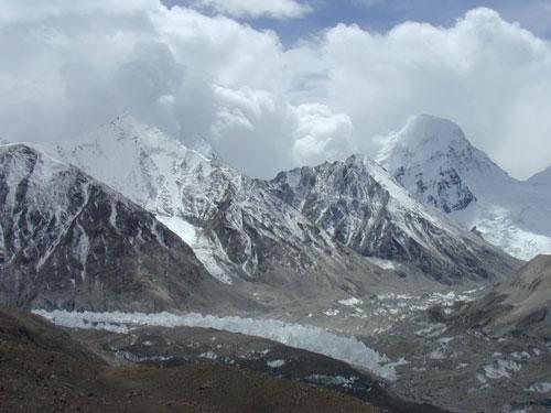 珠峰绒布冰川