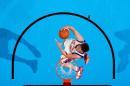 NBA图:07全明星新秀赛 纽约蓝领大卫-李扣篮