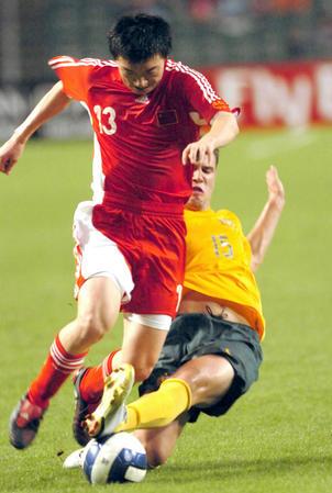 图文:贺岁杯中国国奥2-0澳大利亚 吕建军助攻
