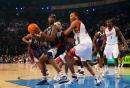NBA图:全明星赛赌城开战 小奥尼尔单打马里昂