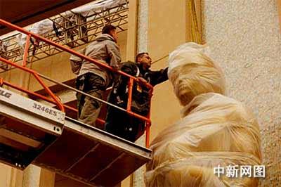 奥斯卡颁奖典礼举办场地柯达剧场开始装饰门面(图)