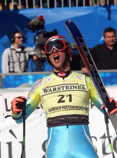 图文:德国滑雪世界杯 杰尔曼满意比赛发挥