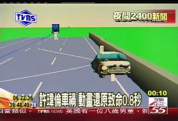 许玮伦车祸分析属疲劳驾驶 动画还原致命0.8秒