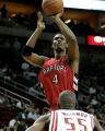 NBA图:火箭VS猛龙  伯什后仰跳投