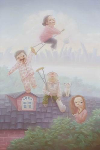 对《姨妈》的十二种图解 后现代命题油画曝光