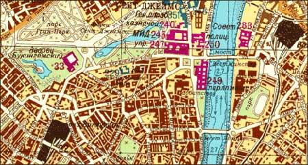 克格勃绘制的英国首都伦敦的地图图片