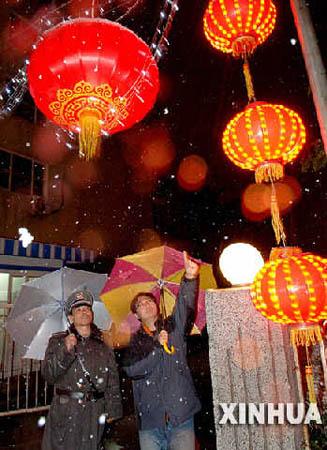 北京元宵前夜迎来降雪 北方局部地区有暴雪(图)