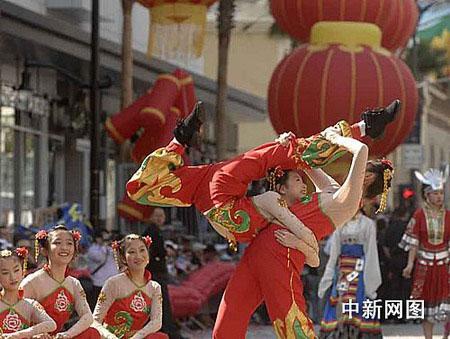 北京奥运风情热舞美国好莱坞