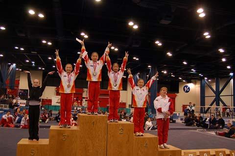 休斯顿体操邀请赛 中国男女队包揽个人全能金牌