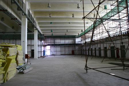 考察中国农业大学体育馆 国际摔联满意工程进展