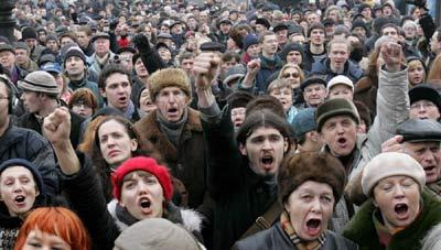 俄反对派举行反普京游行 警方拘捕上百人(组图)
