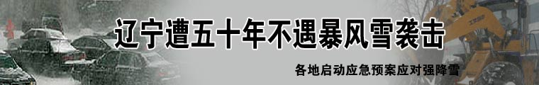 辽宁遭五十年不遇暴风雪袭击