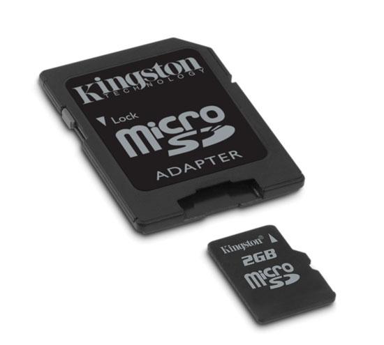 金士顿MicroSD 惊现2GB 存储卡升级高容量
