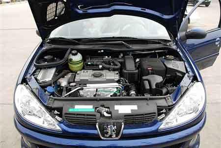 标致206 S发动机舱-终于等到黑内饰 标致206 S车型实拍高清图片