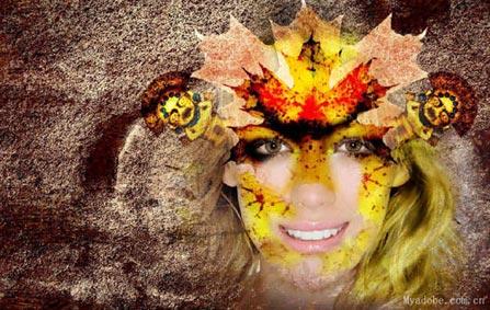 巧用Photoshop蒙板和图层模式设计春之女神