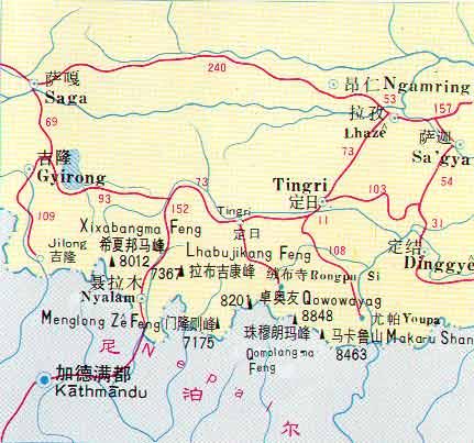 卓奥友峰线路图