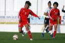 图文:[阿尔加夫杯]中国1-2美国 韩端在比赛中