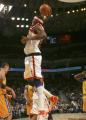 图文:[NBA]掘金队96-110勇士 约翰逊单手扣篮