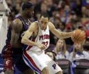图文:[NBA]骑士客场胜活塞 普林斯伺机进攻