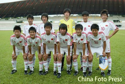 图文:[女足亚少]中国3-1韩国 小玫瑰希望无限