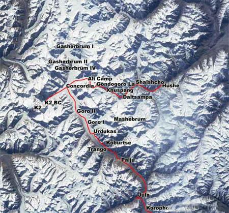 安纳普尔那峰路线图