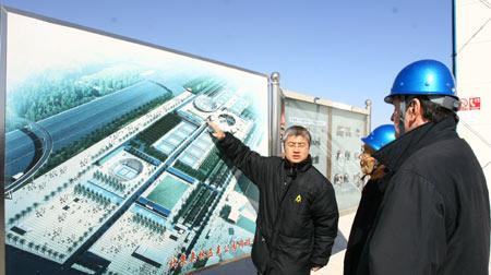 图-ITF考察奥林匹克公园网球中心 感叹建设进度